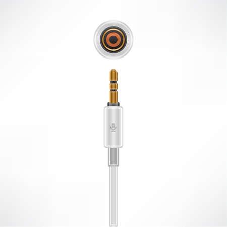 minijack: Microphone MiniJack plug & socket Illustration