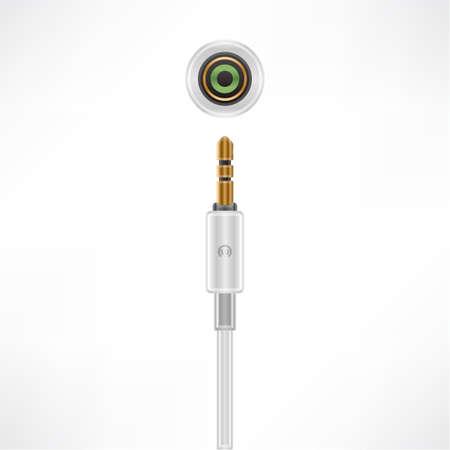 Headphone MiniJack plug socket Stock Vector - 10288068