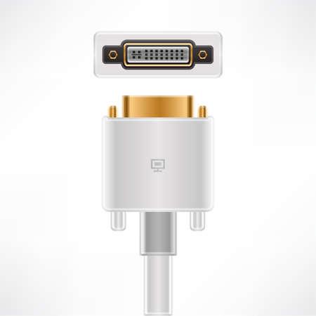 dvi: DVI-I Dual Link plug socket