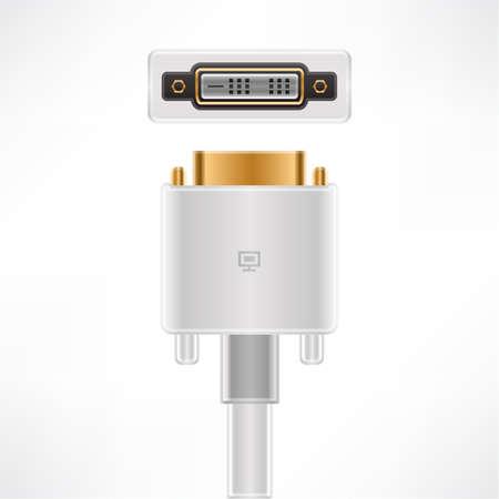 dvi: DVI-D Single Link plug & socket