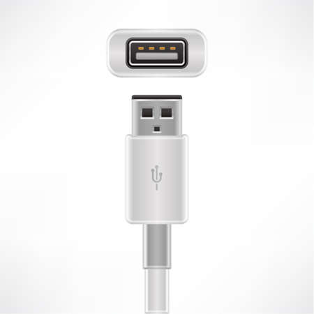 plug in: USB type A plug & socket