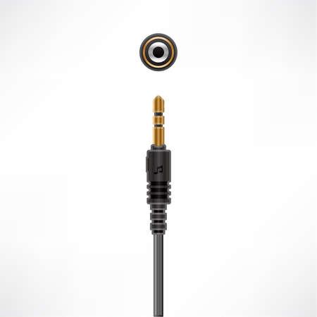 Audio Minijack Cable plug & socket Vector