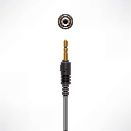 Audio Minijack Cable plug & socket Vector