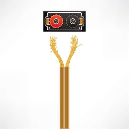 HiFi Speakers Coaxial Cables plug & socket Stock Vector - 10443757