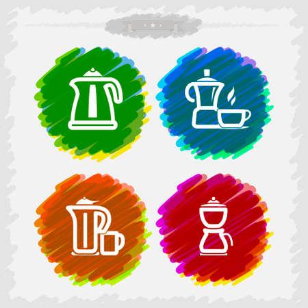 coffee maker: Utensilios de ba�o y otras cosas diarias relacionadas, de izquierda a derecha - Hervidor el�ctrico, Cafetera, Tetera, Cafetera.