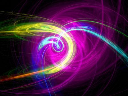 abstractive: Abstract background - colorful lines on black Stock Photo