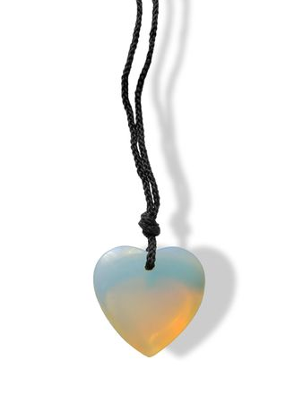 adornment: adornment as heart on white background (isolated)