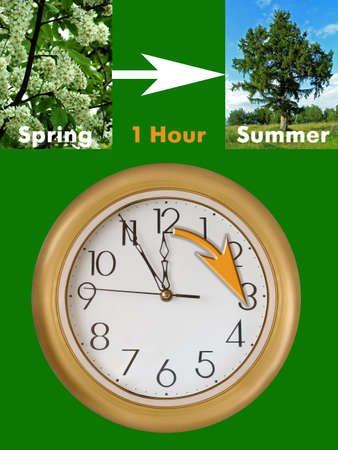 Summertime period begins (last Sunday in March in European Union), Daylight Saving Time photo