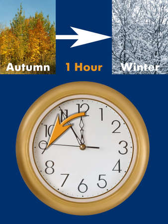 Summertime period ends (last Sunday in October in European Union), Daylight Saving Time photo