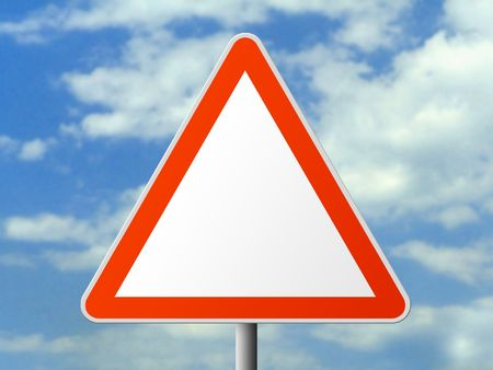 cautionary: Triangle sign (clear), clipping path for sign