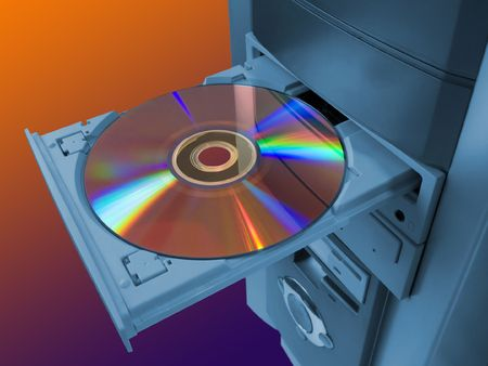 spectra: Spectrum (rainbow) on disk in tray