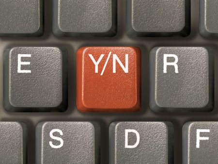 Keyboard (closeup) with Y/N key - choice (red) Stock Photo - 769225