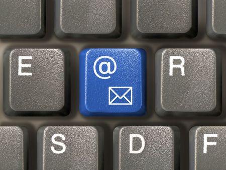 Keyboard (closeup) with E-mail key (blue)