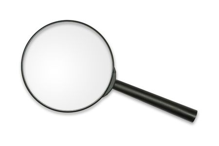Magnifying glass, isolated on white, clipping path