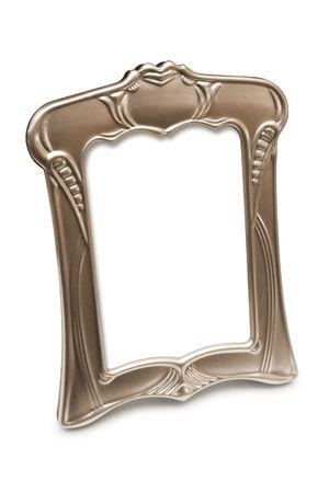 jaunty: Estilo ornamental marco para la foto, aislados en blanco, sin recortar camino