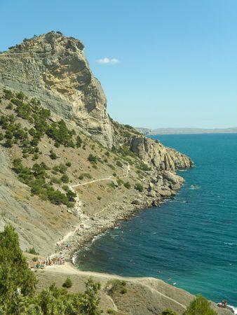 Rock and sea in Crimea Stock Photo - 769355