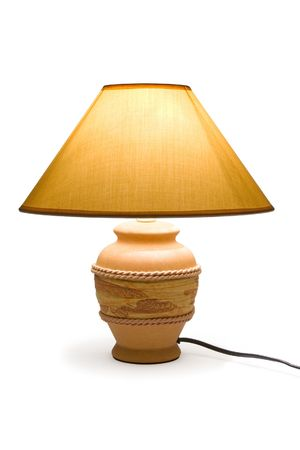 coziness: Lighting lamp, isolated on white background, clipping path Stock Photo