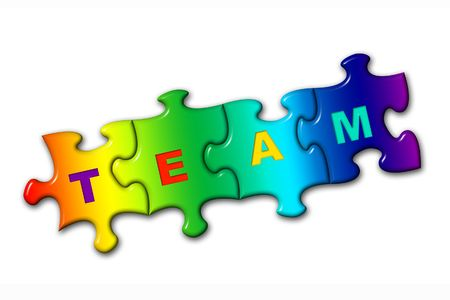Word Team from puzzles, isolated on white Stock Photo - 769345