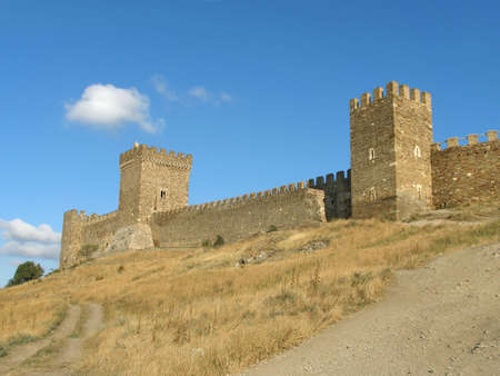 Tower and wall of old fortress Stock Photo - 809635