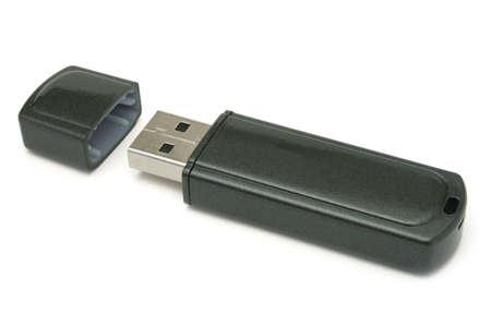 mb: Usb flash memory, close-up, isolated on white backround