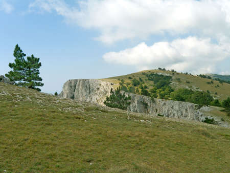 tableland: Canyon on tableland in Crimea