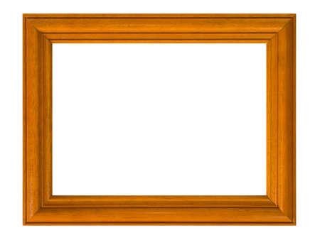Wooden frame, isolated on white background photo