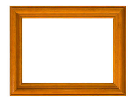 trees photography: Wooden frame, isolated on white background
