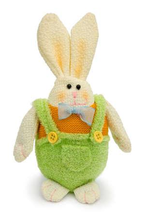 Rabbit (toy), isolated on white background Stock Photo - 846449