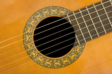 melodies: Classical acoustic guitar, close-up, music background