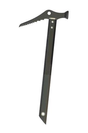ice axe: Black ice axe, isolated on white background Stock Photo