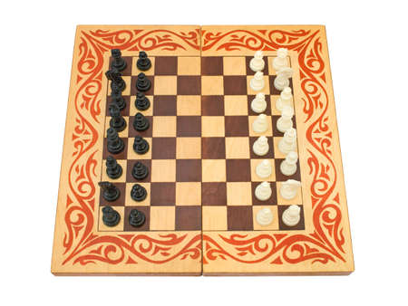 Chess board, isolated on white background photo