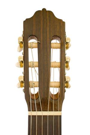 entracte: Guitare acoustique, close-up, isol� sur fond blanc