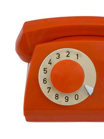 Retro telephone, close-up, isolated on white background Stock Photo - 1208798