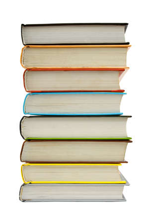 Stack of books, isolated on white background Stock Photo - 1298534