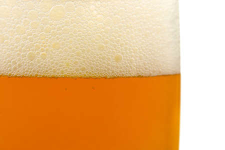 Glass of beer, close-up, isolated on white background Stock Photo - 1862396