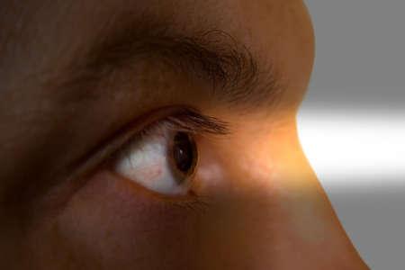 Human eye and light beam Stock Photo - 2148221