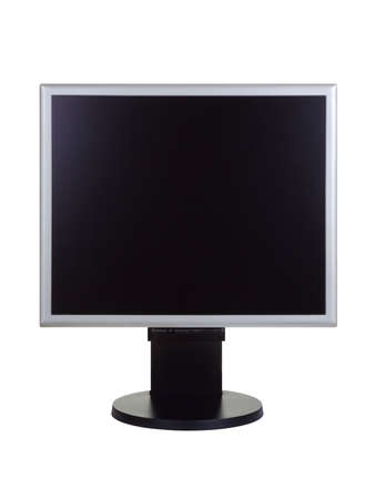 dvi: Computer lcd monitor, isolated on white background Stock Photo