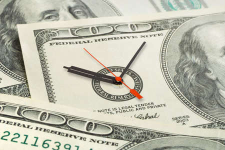 Time is money, business background photo