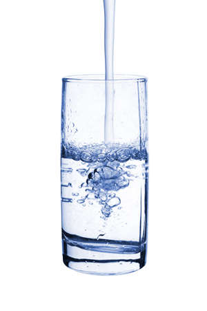 Glass of water, isolated on white background photo