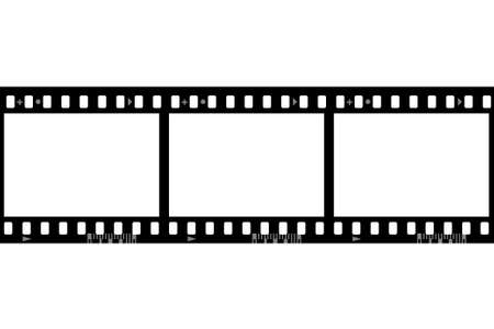 Roll film: Fotogramas de pel�culas fotogr�ficas (sin fisuras, la anchura de marco de 1386 pix), aislado en el fondo blanco
