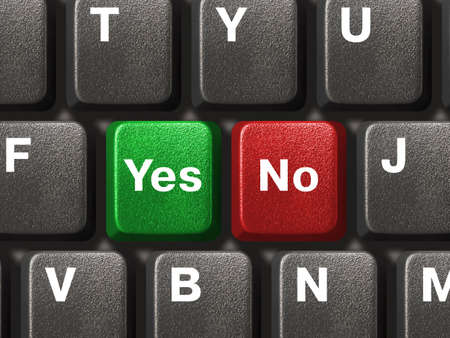 Computer keyboard with Yes and No keys Stock Photo - 2409352
