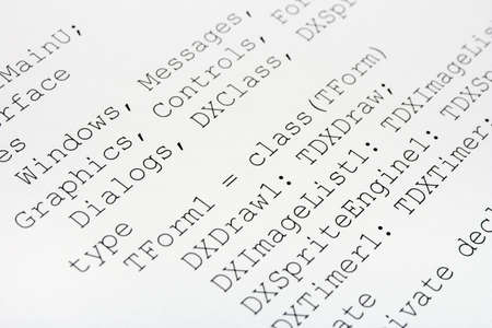 Printed computer code, technology background Stock Photo - 2444883