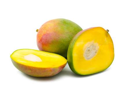 mango isolated: Fruit mango, isolated on white background