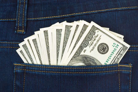 Money in jeans pocket, shopping background Stock Photo - 2698522