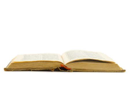 Opened retro book, isolated on white background Stock Photo - 2713802