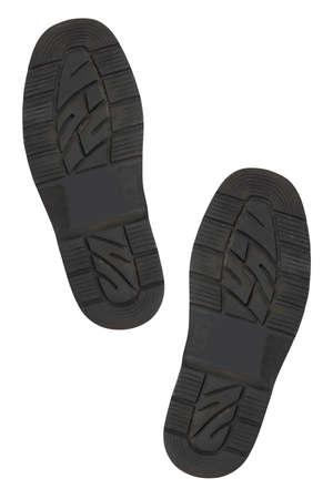 pieds sales: Bas de chaussures, isol� sur un fond blanc Banque d'images