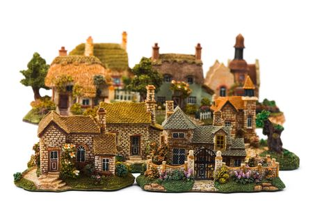 Toy town, isolated on white background Stock Photo - 2870772