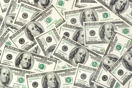 US dollars, abstract business background photo