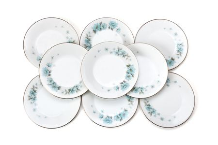 Set of plates with pattern, isolated on white background Stock Photo - 2958608