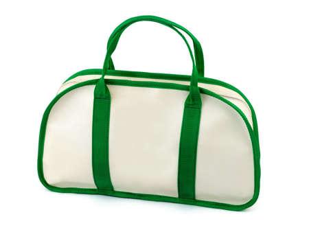 Travel bag, isolated on white background photo